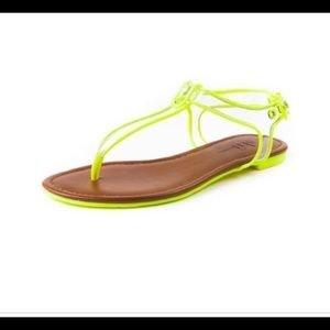 Lucie Neon Yellow Sandal
